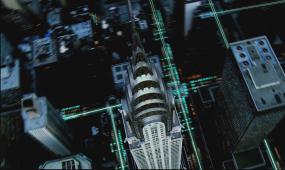 d1081数字化高科技传输 城市夜景 数字连线