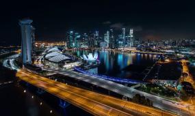 d1084城市夜景交通街道 高科技数据 网络科技