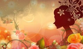 节目歌曲 女人花 舞美粒子光斑 花朵 花瓣 晚会舞台 LED视频