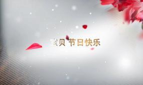 求婚浪漫花瓣相册幸福时刻AE模板