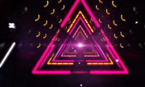 0023高清炫彩三角穿梭(有音乐)LED背景素材