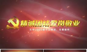 大气党政机关宣传标语小标题片花Ae模板