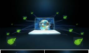 科技感大数据网络连线logo展示免插件Ae模板
