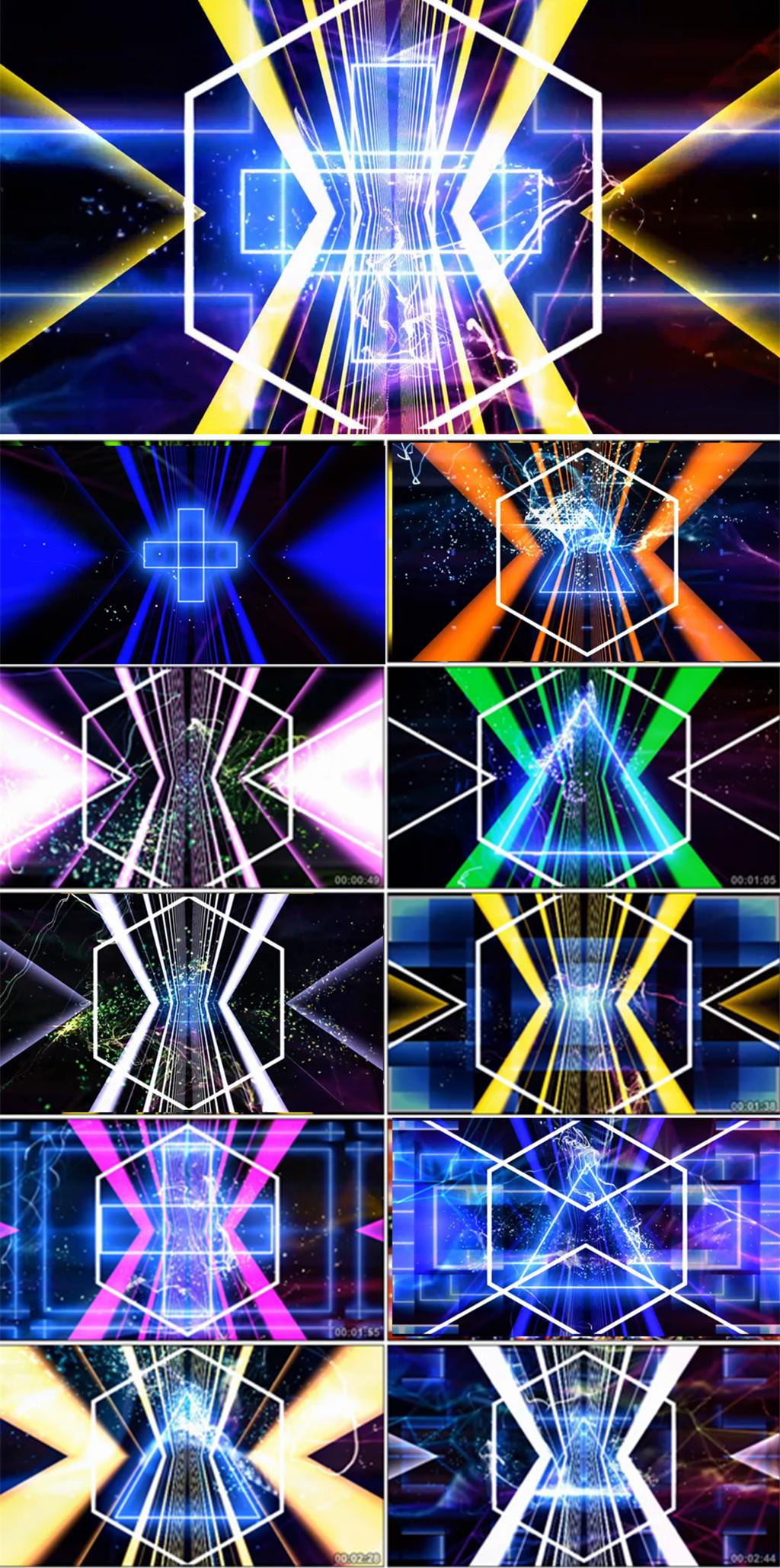 舞蹈拉丁恰恰舞表演背景led动态视频VJ视频