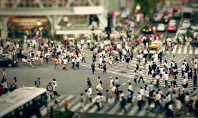 常用素材延时繁忙大街红绿灯脚步匆匆港口