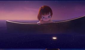 童话小孩划船水母演绎LOGO标志片头片尾会声会影模板
