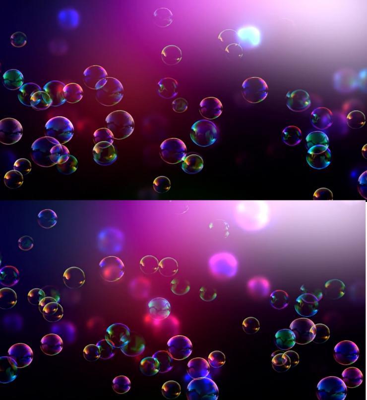 紫色唯美梦幻炫彩肥皂泡泡飞舞视频