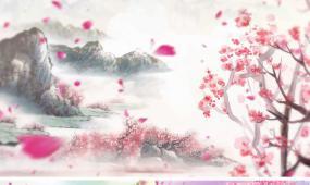 鞠婧祎歌曲落花成泥表演背景视频led动态素材