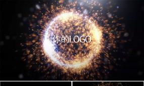 大气炫酷粒子爆炸特效标志开场edius模板