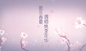 唯美浪漫樱花飘扬婚礼片头AE模板