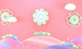 可爱颂配乐成品温馨可爱云朵led动态视频
