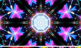 动感万花筒VJ视频动感舞蹈背景粒子光线年会开场