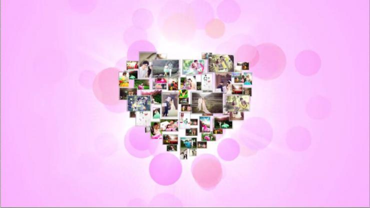 My Love温馨唯美婚纱照电子相册ae模板婚礼开场视频婚庆模板