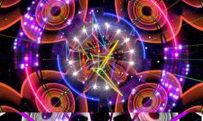 霓虹灯闪烁动感循环VJ背景视