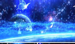 既视感配乐成品唯美舞台背景视频粒子星空蓝色背景
