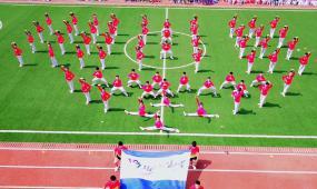 小学趣味广播操体育锻炼高清实拍视频素材