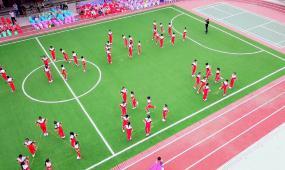中小学校课外活动趣味体育运动高清实拍视频素材