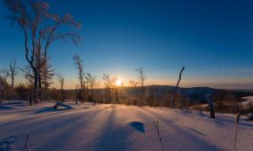 内蒙古阿尔山雪景高清视频视频素材