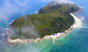 海南省加井岛自然风光实拍视频素材