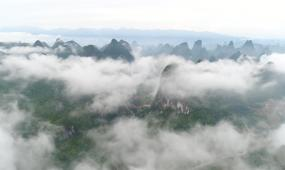 广西桂林云海高清实拍视频素材