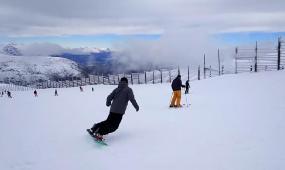 滑雪之旅高清实拍视频素材