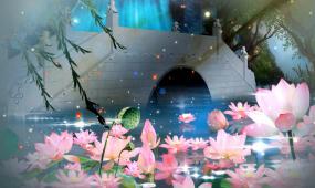 中国风古风元素舞台背景视频