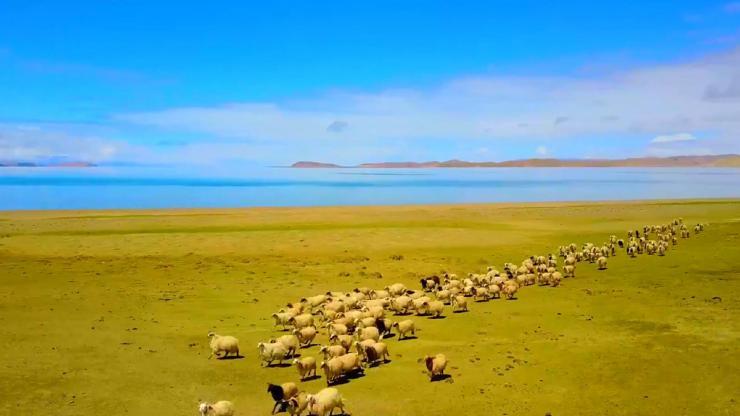 西藏纳木措圣象天门高清实拍视频素材