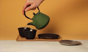 茶具茶壶泡茶视频素材