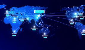 城市省份地区集团公司业务辐射全世界中国地图AE模板