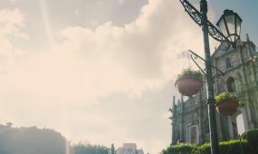 澳门特别行政区之路游艇钓鱼喷泉酒店教堂商业区电音节延