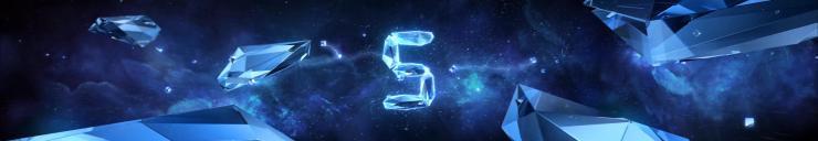 震撼大气5秒水晶玻璃倒计时倒数闪电宇宙星空年会启动开场