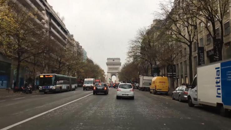法国巴黎街景实拍视频素材