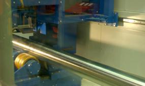 制造业钢材生产液压成型抛光视频素材