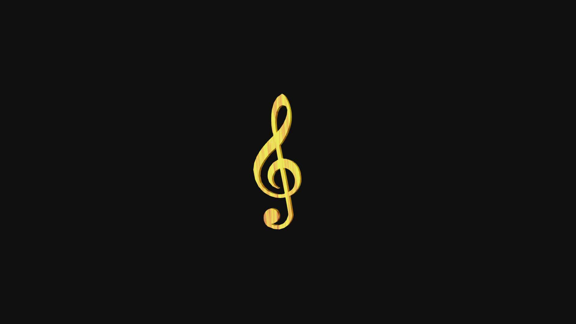 旋转的高音谱号