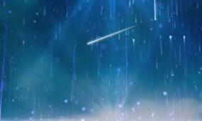 流星划过粒子云海背景视频