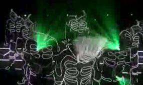 动感黑白卡通激光舞开场视频素材