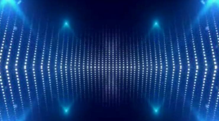 唯美大气蓝色舞台灯光背景视频