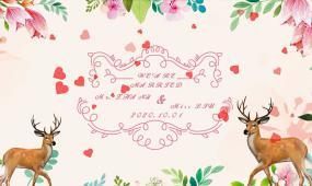 森系小鹿婚禮logo定屏視頻