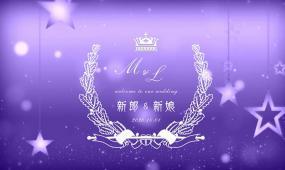 夢幻紫色星星婚禮定屏