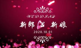 唯美鉆石愛心婚禮定屏視頻