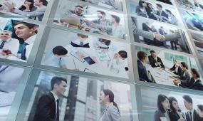 简洁大气玻璃质感企业宣传活动纪录片