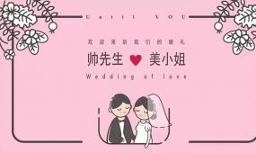 粉色搞笑八戒婚礼快闪加长