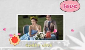 可爱卡通温馨婚礼视频
