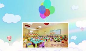 卡通炫彩气球幼儿园毕业儿童相册