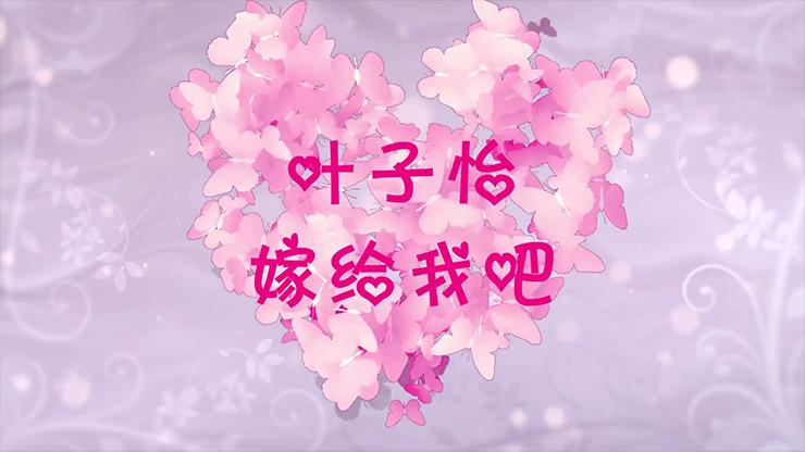 樱花花瓣蝴蝶飞舞表白求婚婚礼视频
