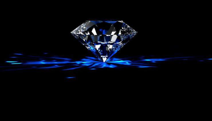 蓝色钻石旋转浪漫求婚告白素材