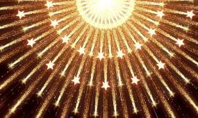顶部光源向四周散射星星大气开场