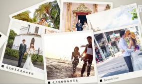 相冊重疊多照片展示圖集