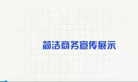 简洁商务宣传展示Pr模板