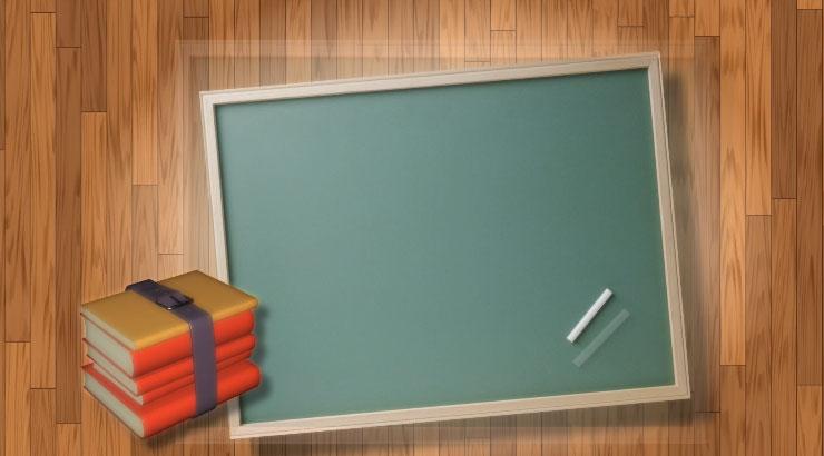 可愛粉筆畫教室黑板視頻